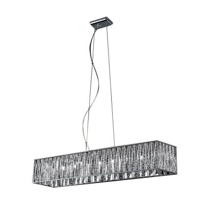 Lawrence 9-Light Chrome Halogen Ceiling Island Light