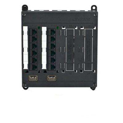 Structured Media Twist & Mount Patch Panel with 12 Cat 6 Ports - Black