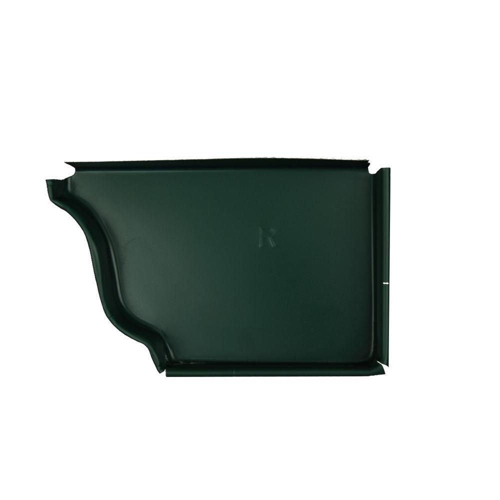 5 in. Grecian Green Aluminum Right End Cap