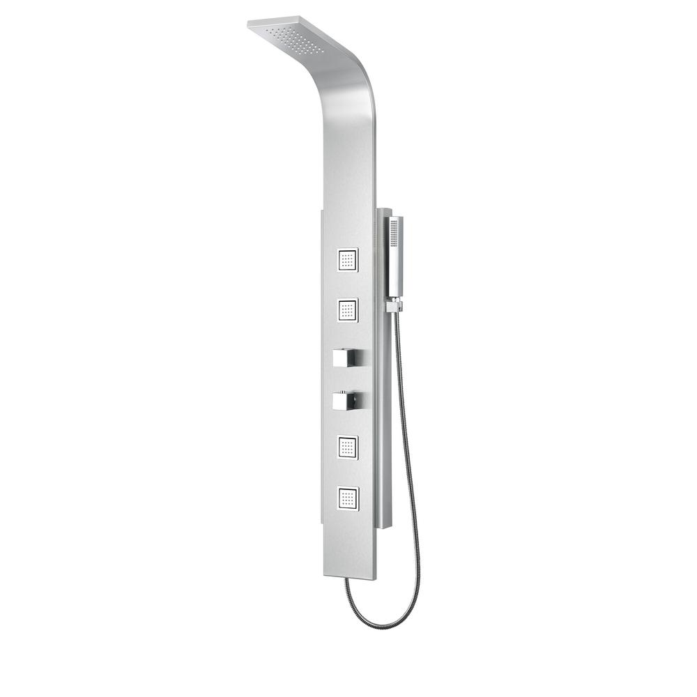 VISOR Series 60 in. 4-Jetted Full Body Shower Panel System with