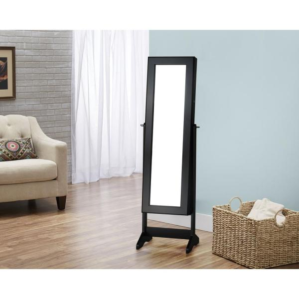 FirsTime Black Cheval Free Standing Jewelry Armoire JAFS2-BLACK