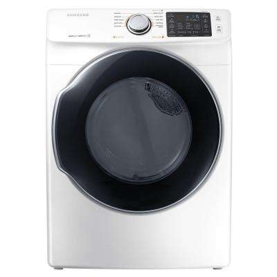 7.5 cu. ft. Electric Dryer with Steam in White, ENERGY STAR