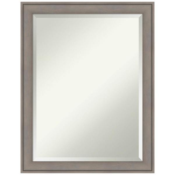 Amanti Art Graywash Wood 22 In X 28 In Contemporary Framed Decorative Wall Mirror Dsw4016394 The Home Depot