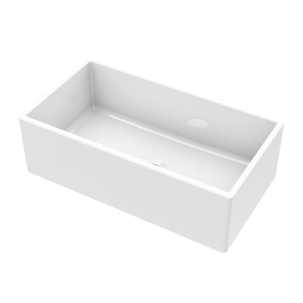 Farmhouse Apron Front Fireclay 33 in. Single Bowl Kitchen Sink in White