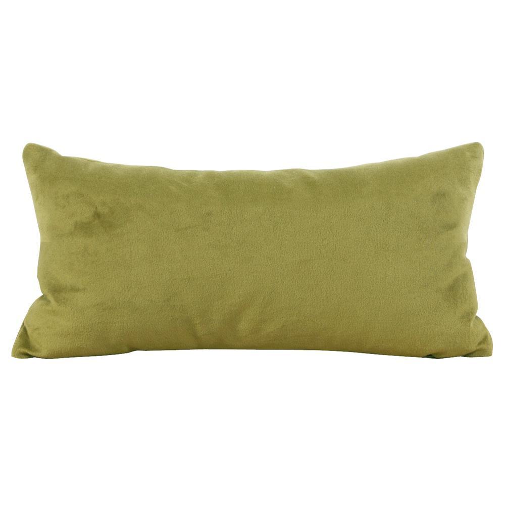 Bella Green Moss Kidney Decorative Pillow