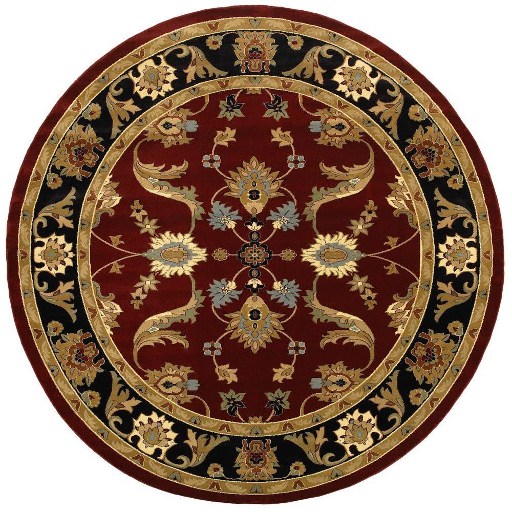 Adana Red/Black 6 ft. 2 in. x 6 ft. 2 in.