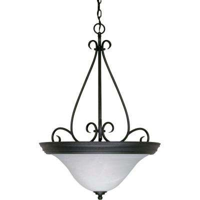 Adria 3-Light Textured Black Pendant