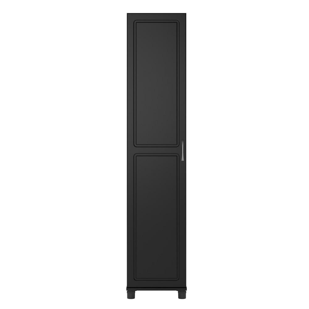 Ameriwood Home Trailwinds 16 in. Obsidian Black Utility Storage Cabinet HD97354