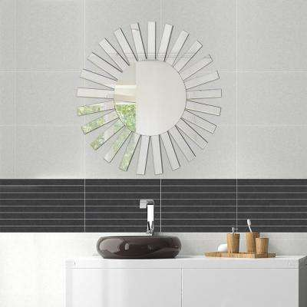 35.5 in. x 35.5 in. The Rising Sun Decorative Sunburst Wall Mirror