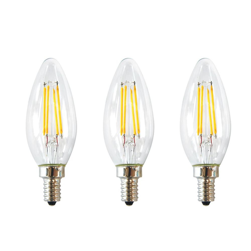 This Review Is From 40 Watt Equivalent B11 E12 Base Dimmable Clear Filament Vintage Style Led Light Bulb Daylight 3 Pack