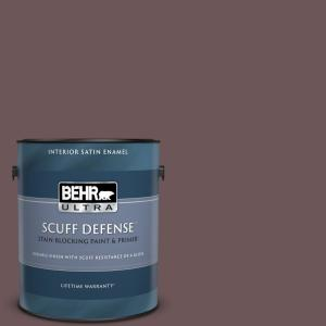 Behr Ultra 1 Gal N120 7 Grand Plum Extra Durable Satin Enamel Interior Paint And Primer In One 775301 The Home Depot