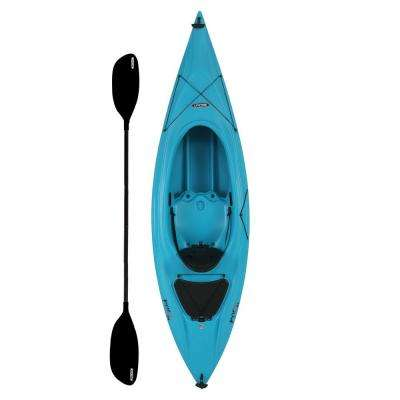 Payette 9.6 ft. Kayak in Glacier Blue with Paddle and Seat Back