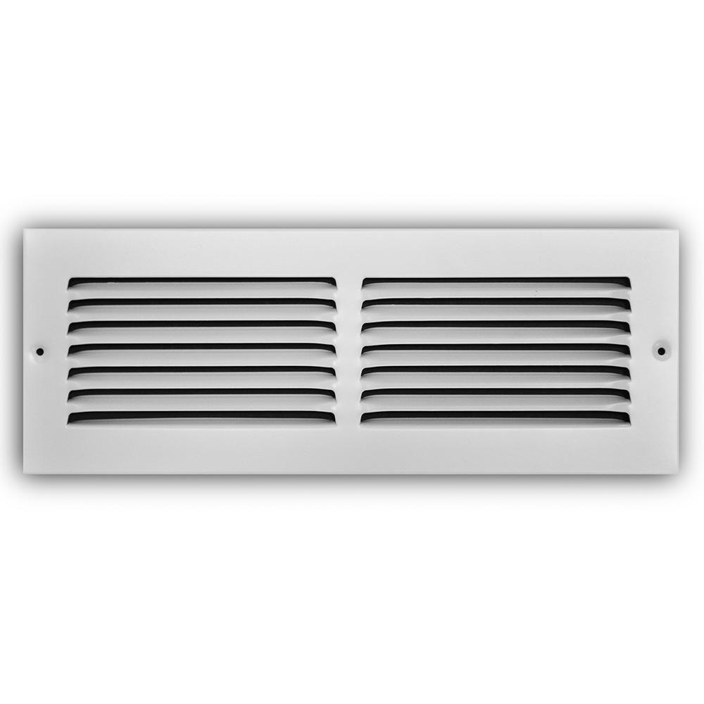 Truaire 14 In X 4 In White Return Air Grille H170 14x04 The Home