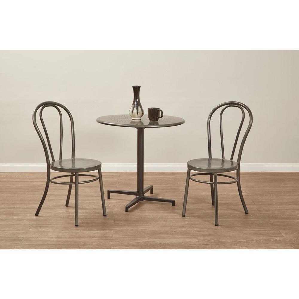 Oxton Matte Galvanized Folding Table