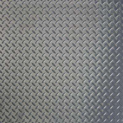 RaceDay 24 in. x 24 in. Peel and Stick Diamond Tread Slate Grey Polyvinyl Tile (40 sq. ft. / case)