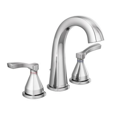 Stryke 8 in. Widespread 2-Handle Bathroom Faucet with Metal Drain Assembly in Chrome