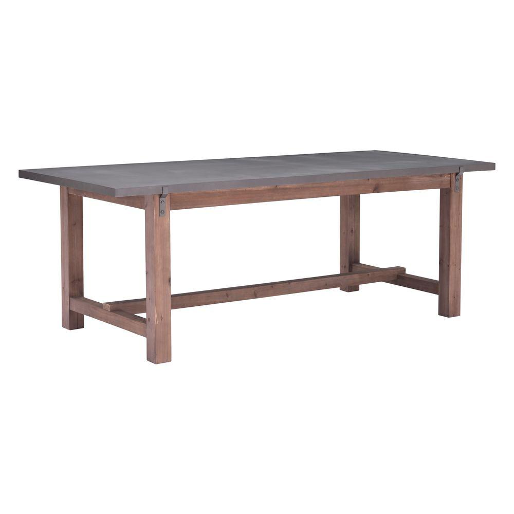 ZUO Greenpoint Gray And Distressed Fir Dining Table 100501
