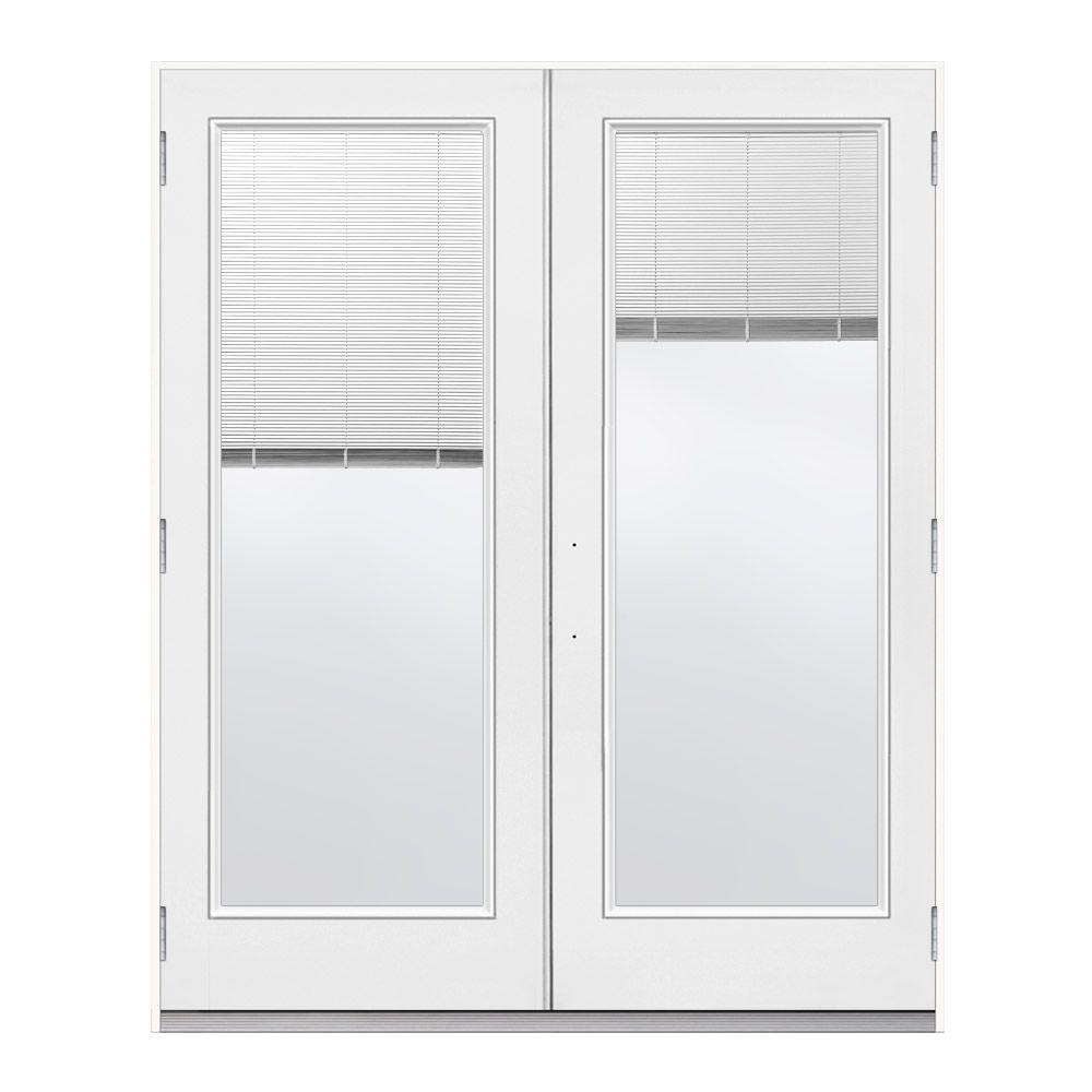 Jeld wen 72 in x 80 in primed steel left hand outswing for French patio doors outswing home depot