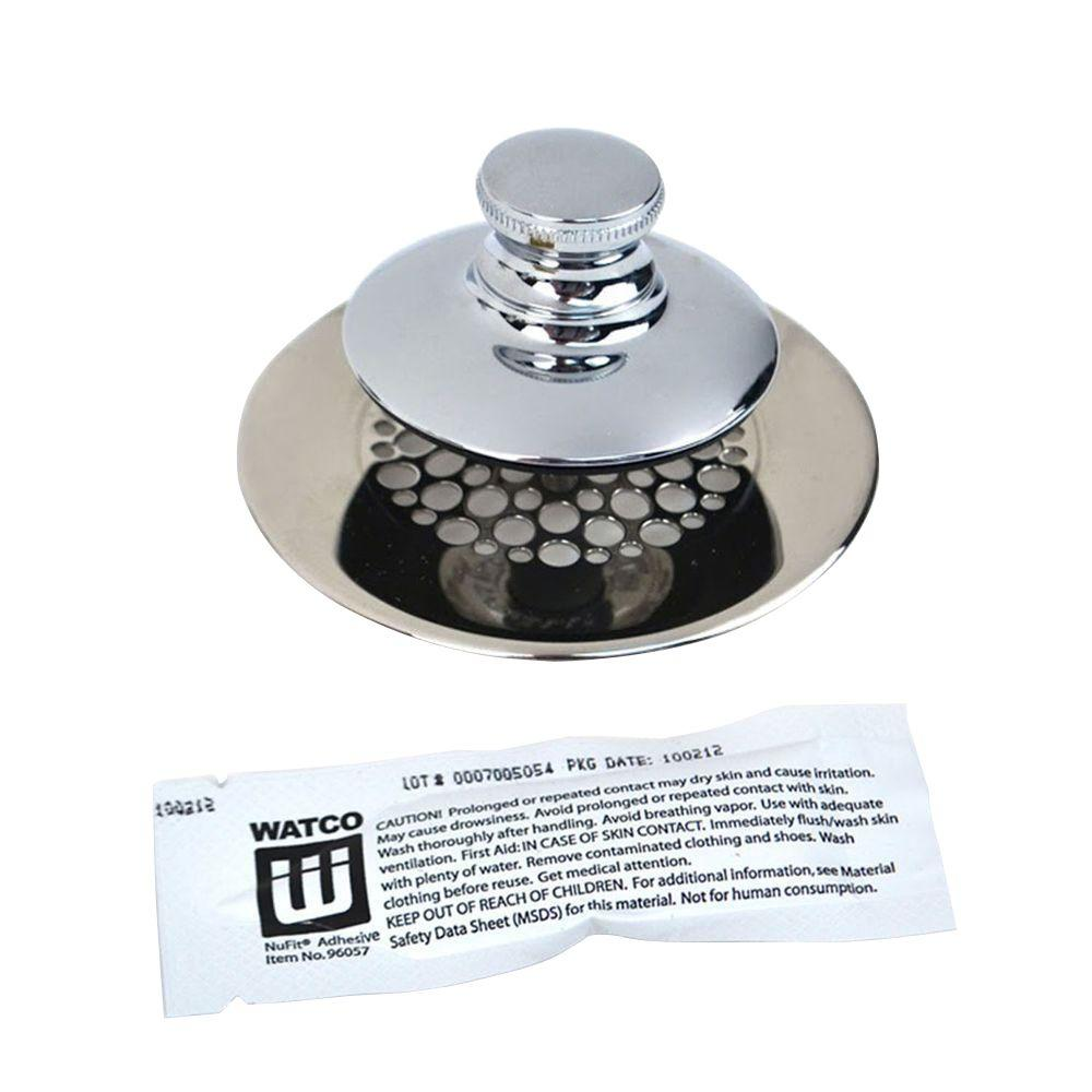 Watco Universal Nufit Push Pull Bathtub Stopper Grid Strainer And
