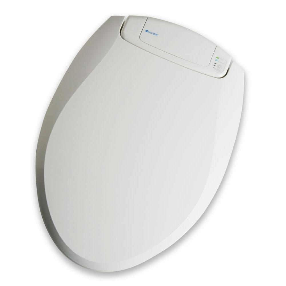 Brondell Breeza Warm Heated Deodorizing Round Closed Front Toilet Seat in White-DISCONTINUED