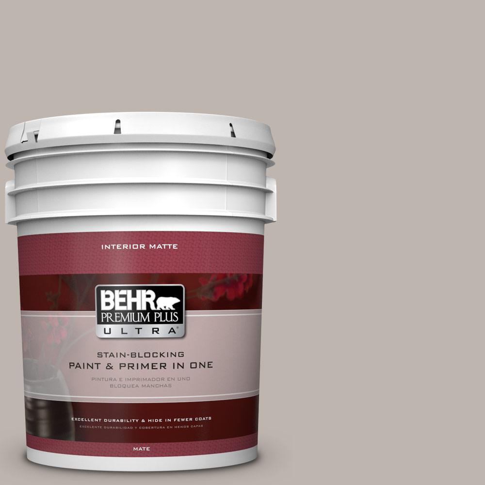 5 gal. #PPU18-12 Graceful Gray Flat/Matte Interior Paint