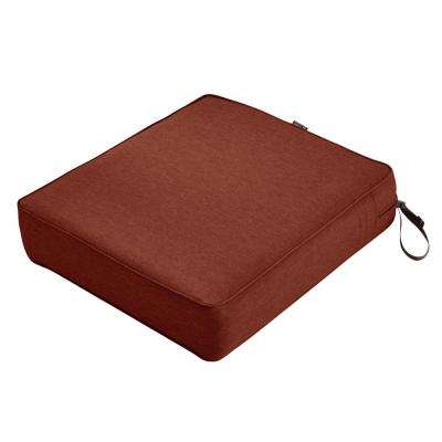 Montlake 23 in. W x 25 in. D x 5 in. Thick Heather Henna Red Outdoor Lounge Chair Cushion