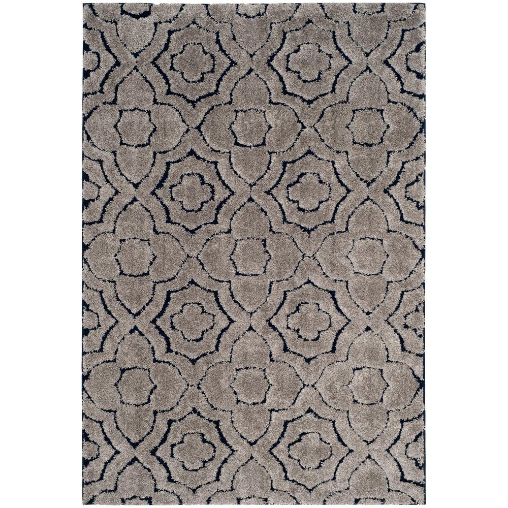 Safavieh Memphis Shag Taupe/Blue 5 ft. 1 in. x 7 ft. 6 in. Area Rug