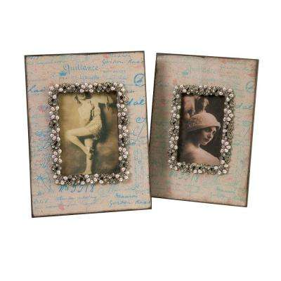 Lenor 1-Opening 4 in. x 6 in. Multicolored Picture Frame (Set of 2)