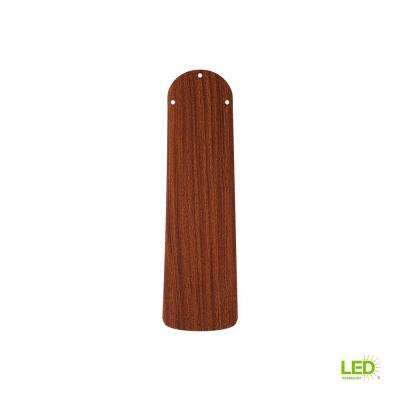 52 in. Mahogany with Oval Tip Double Beveled Replacement Fan Blade
