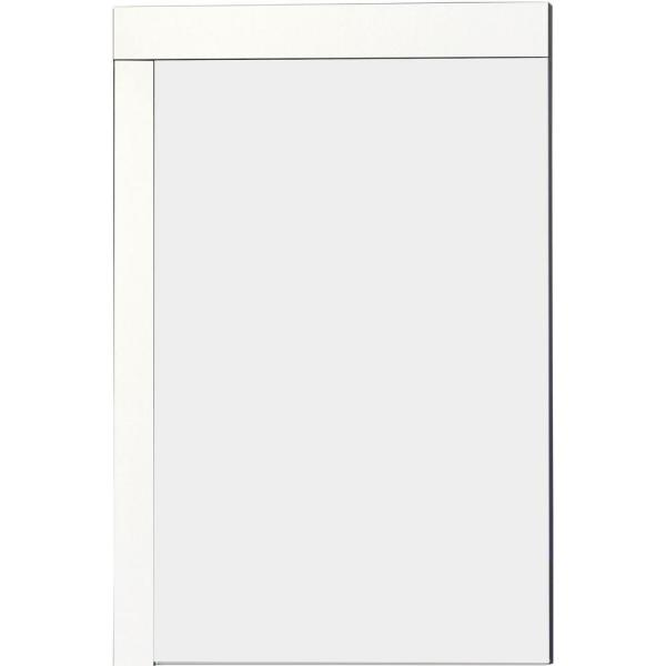 16-Gauge-Sinks 23.5 in. x 35.5 in. Single Framed Wall Mirror in Lacquer-Paint White