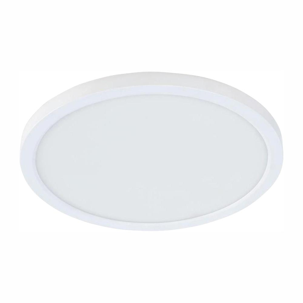 Commercial Electric 4 in. J-Box 8-Watt Dimmable White Integrated LED Round Flat Panel Ceiling Flush Mount Light with Color Changing CCT