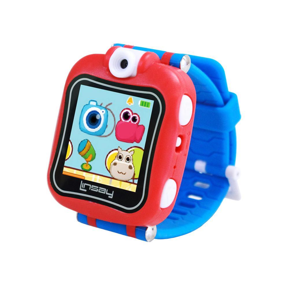 LINSAY 1.5 in. Smart Watch Kids Cam Selfie, Blue