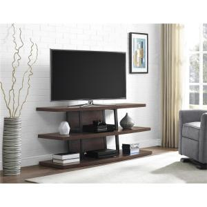 Ameriwood 70 inch Espresso and Black Castling TV Stand by Ameriwood