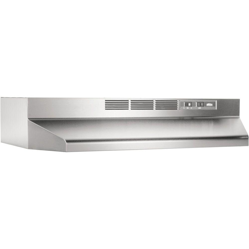 broan 41000 series 24 in non vented range hood in. Black Bedroom Furniture Sets. Home Design Ideas