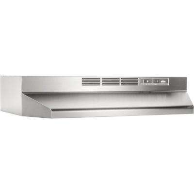 41000 Series 24 in. Non-Vented Range Hood in Stainless Steel