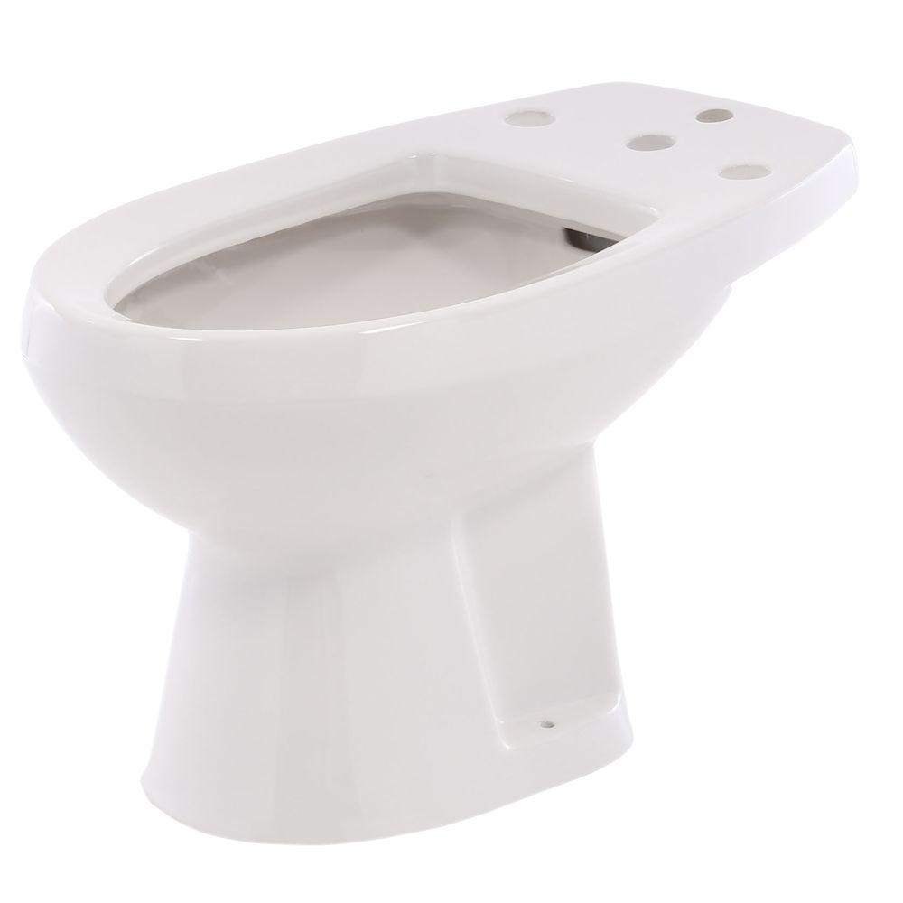 Cadet Round Bidet in White for Deck Mounted Fitting