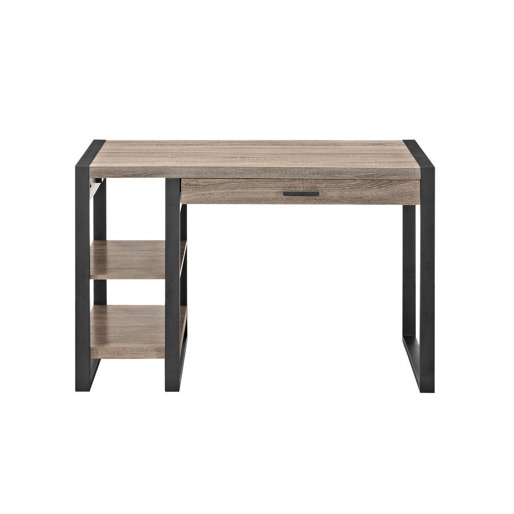 Urban Blend Driftwood Desk with Storage