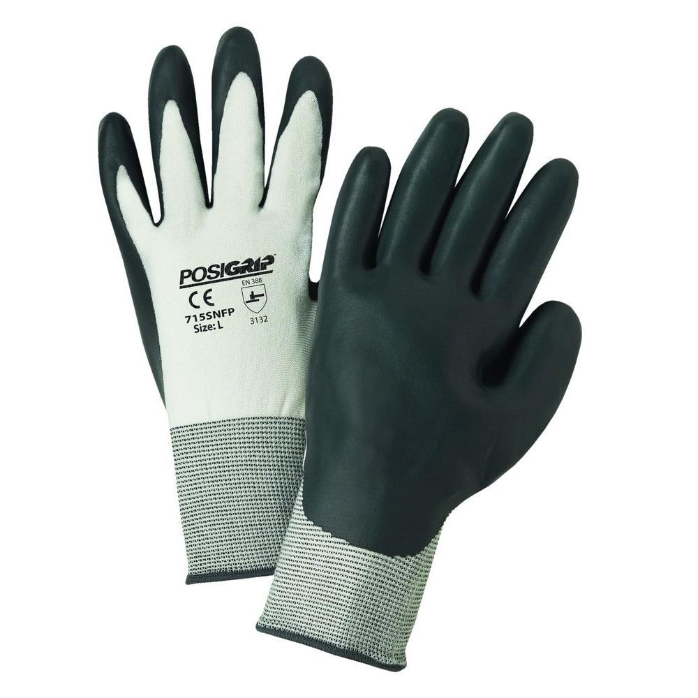 15 Gauge Sponge Nitrile Dipped Gloves - Dozen Pair