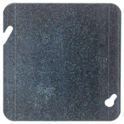 4-11/16 in. Square Blank Cover, Flat (Case of 25)