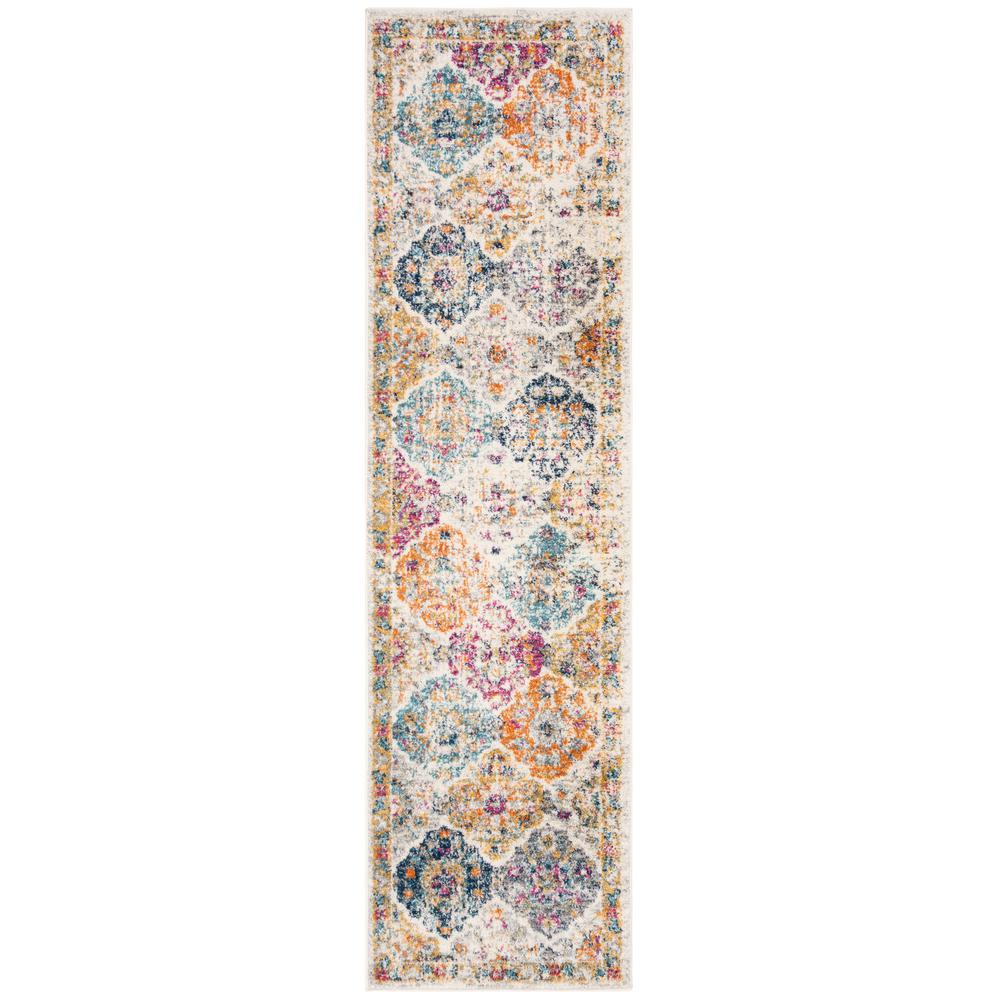 Safavieh Madison Cream/Multi 2 ft. 3 in. x 10 ft. Runner Rug