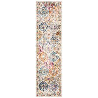 Madison Cream/Multi 2 ft. 3 in. x 12 ft. Runner Rug