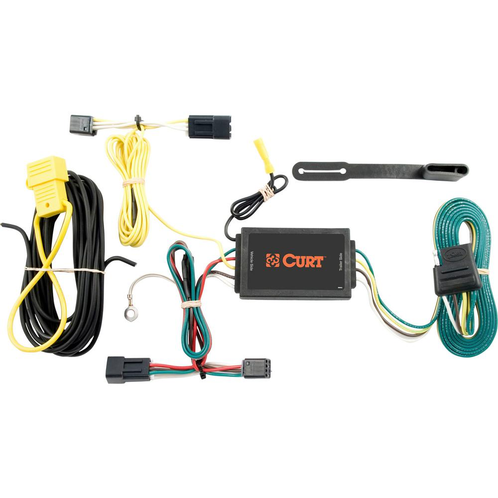 curt custom wiring harness (4 way flat output) Vehicle Specific Trailer Wiring Harness