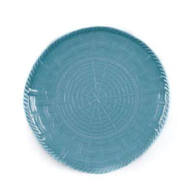 Woven Turquoise Dinner Plate (Set of 4)
