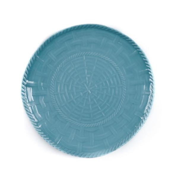 Encore Woven Turquoise Dinner Plate (Set of 4)