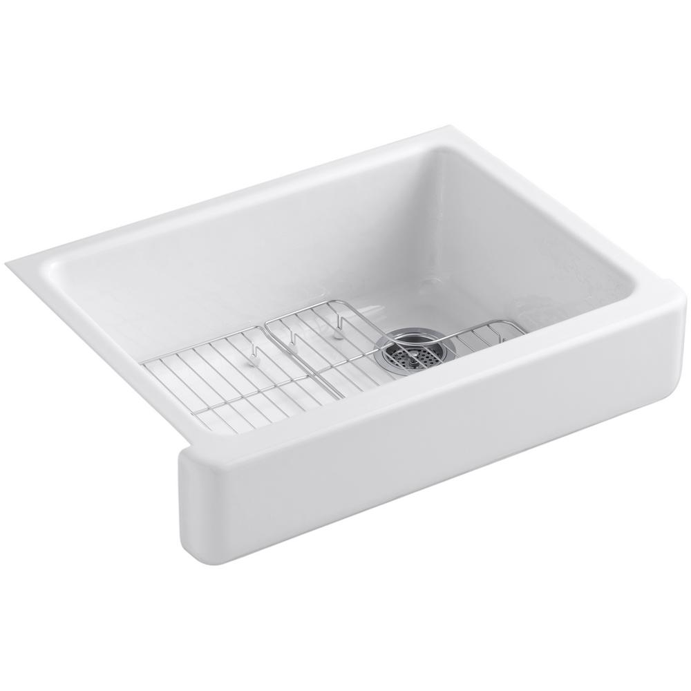 Whitehaven Undermount Farmhouse Apron Front Cast Iron 30 in. Single Basin