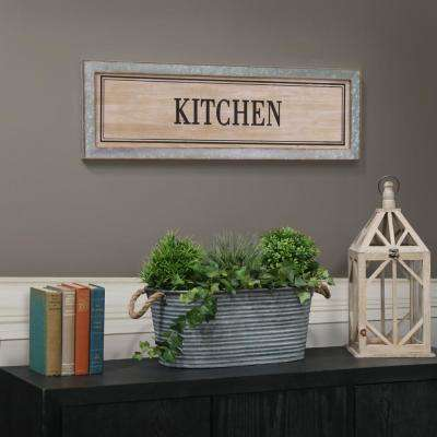"10.00 in. x 33.00 in. ""Kitchen"" Printed Wall Art"
