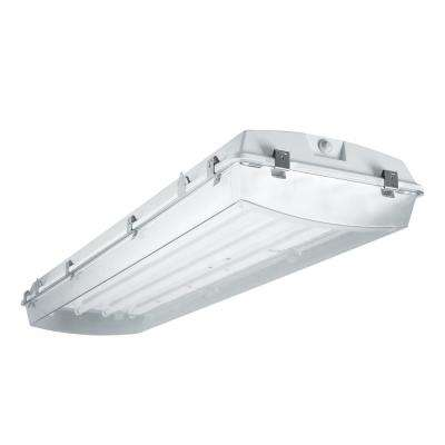 VT4 T5 4-Light Instant Start Wet Location White Strip Light Fixture