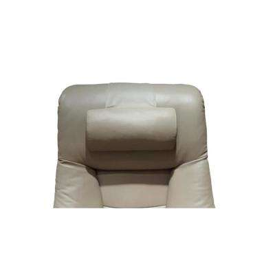 Oslo Collection Putty Gray Top Grain Leather Cervical Pillow