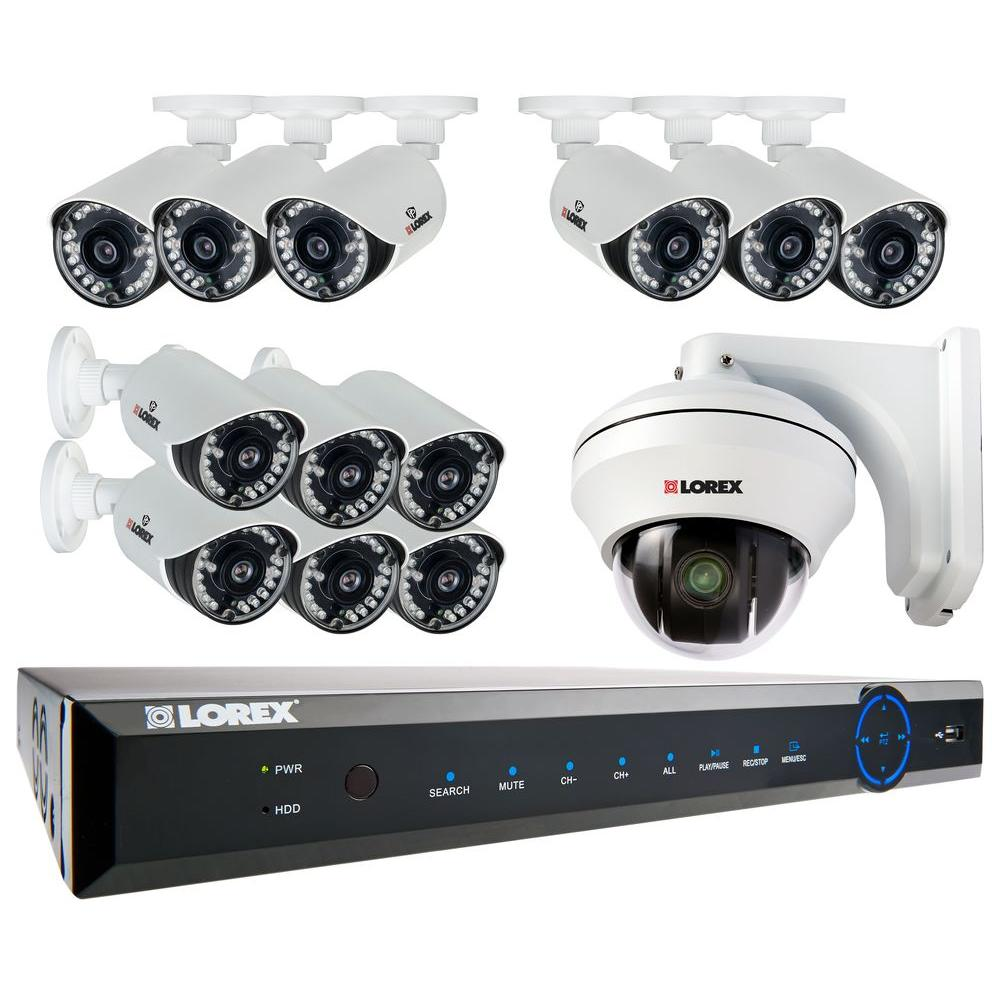Lorex 16-Channel 960H Surveillance System with 2TB HDD, 12 900 TVL Cameras and High Speed PTZ Security Camera