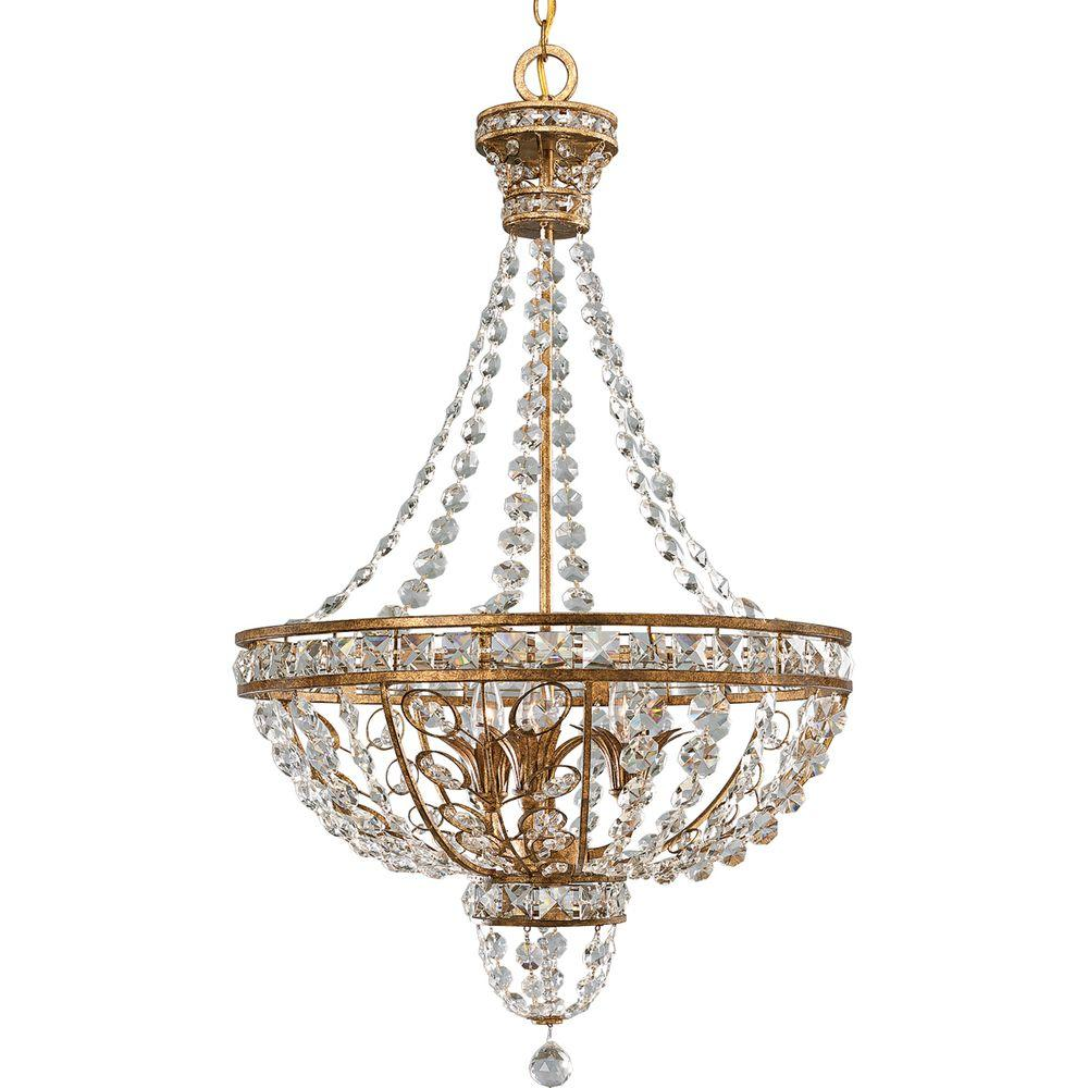 Progress Lighting Palais Collection 3-Light Imperial Gold Chandelier